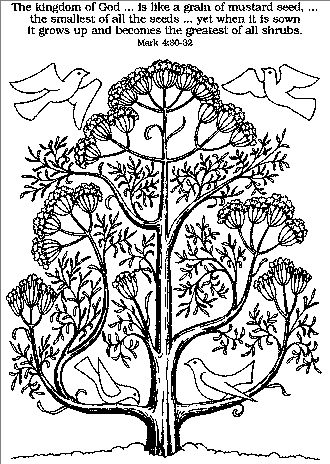 Mustard Seed Free Coloring Pages